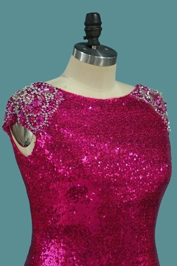 2020 Scoop Mermaid Prom Dresses Sequins With PSCR1FJ2