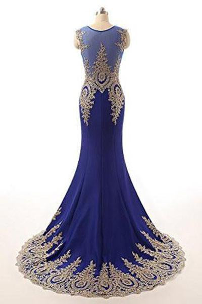 Sleeveless Evening Dress Long Mermaid Prom Gown