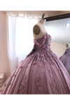 Ball Gown Off The Shoulder Tulle Quinceanera Dress With Lace Appliques Puffy Prom STKP3HM7KB3