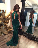 Long high neck mermaid sexy prom dresses backless prom dresses dresses for prom