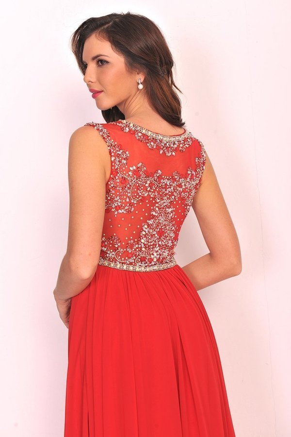 2020 Scoop Prom Dresses A Line Beaded Bodice PRKJQ7JP