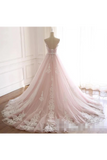 Tulle Iovry Appliques SweetHeart Neckline Cathedral Train Wedding STKPLXGGTP3
