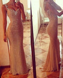 New Style Prom Dress With Straps Sequin Sweetheart Long Mermaid Prom Dresses
