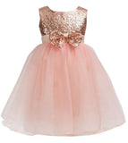 Little Girls Sequin Mesh Tulle Baby Dress Flower Girl Ball Gown Party Dress Prom