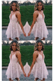 Mini Pink A Line Spaghetti Strap Short Prom Dresses Homecoming Party Dress