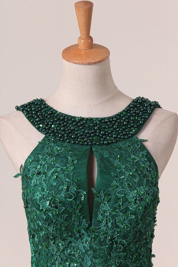 Scoop Mermaid With Applique And Beads Prom P38DEQ1R