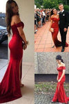 Mermaid Sexy Open Backs V neckline Burgundy Red Evening Dress Trumpets Shape Dress