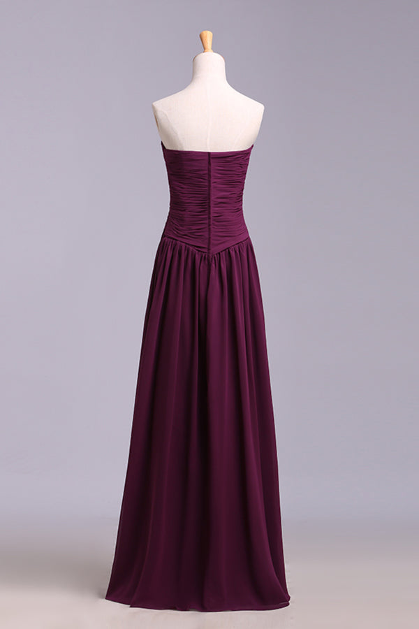 Affordable Bridesmaid Dresses/Prom Dresses A-Line Sweetheart Floor-Length P53NYCHB
