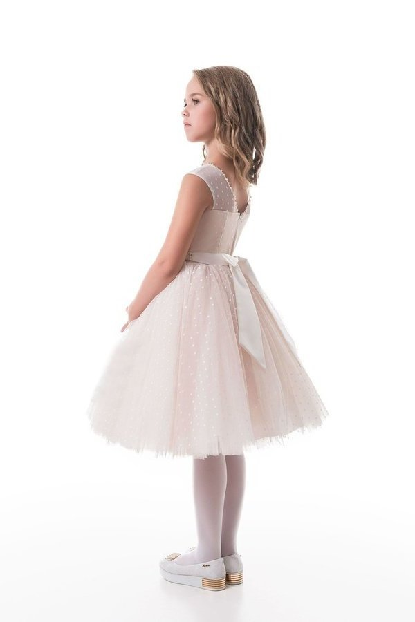 2020 New Arrival Scoop Flower Girl Dresses A Line Tulle PK33RSAS