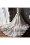 Stunning Off The Shoulder Tulle Wedding Dress With Applique Bridal Dress With Long STKPAE18RA2