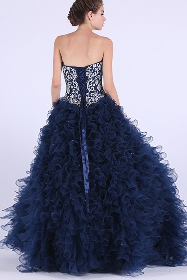 2020 Tulle Quinceanera Dresses Ball Gown Sweetheart P9N39JYZ