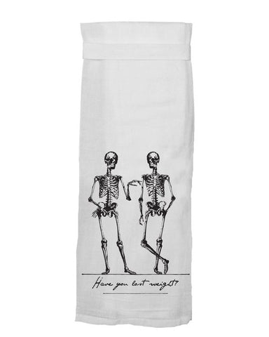 lost weight skeleton tea towel - Funky Cat Emporium
