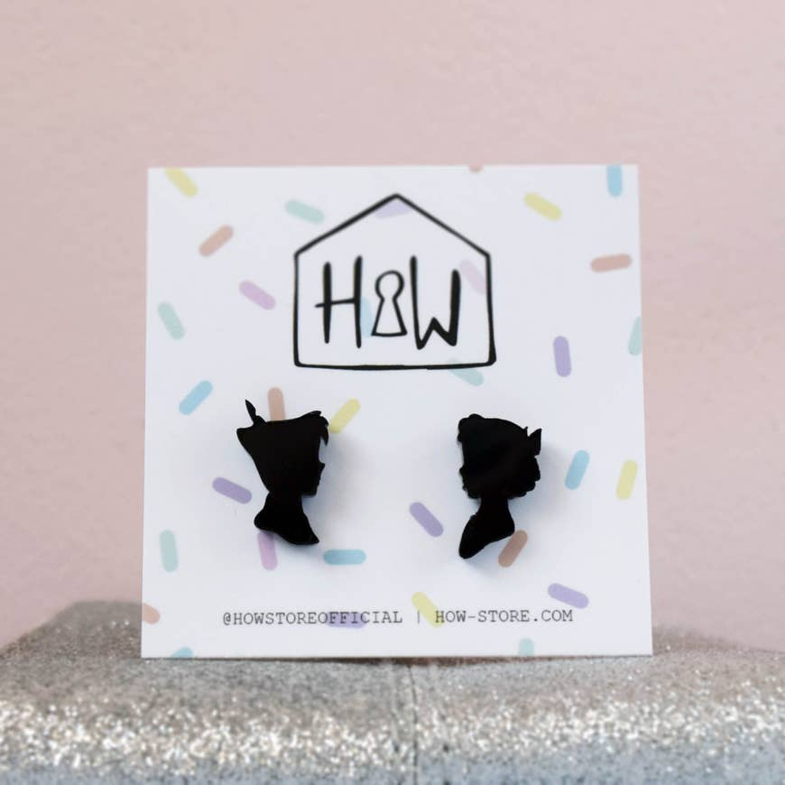 peter & wendy silhouette earrings - Funky Cat Emporium