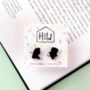 Alice & Mad Hatter Silhouette Earrings - Funky Cat Emporium