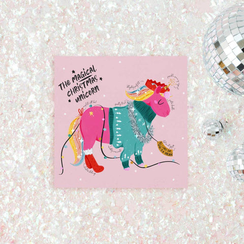 magical unicorn christmas card - Funky Cat Emporium