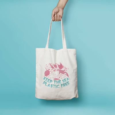 Keep the Sea Plastic Free Daily Tote - Funky Cat Emporium