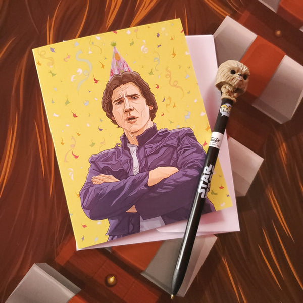 han solo party birthday card - Funky Cat Emporium