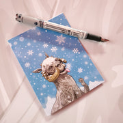 Tauntauns love Snowflakes Christmas Card - Funky Cat Emporium