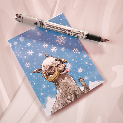 Tauntauns love Snowflakes Christmas Card