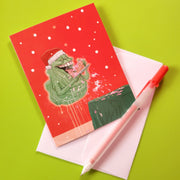 Santa Slimer Christmas Card
