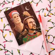 Hans Gruber and John McClane Christmas Card - Funky Cat Emporium