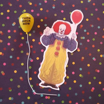 Pennywise and Balloon 1990 Vinyl Sticker