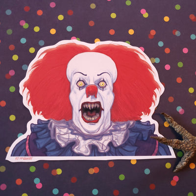 Pennywise the Demon Clown 1990 Vinyl Sticker