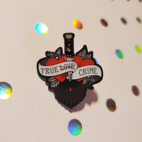 true crime love enamel pin - Funky Cat Emporium