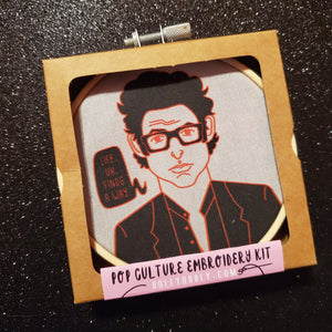 dr ian malcolm embroidery kit - Funky Cat Emporium