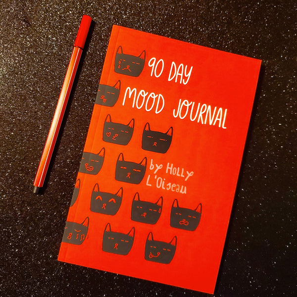 90 day mood journal - Funky Cat Emporium