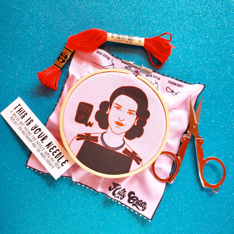 the marvelous mrs. maisel embroidery kit - Funky Cat Emporium