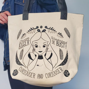 disney alice in wonderland daily tote bag