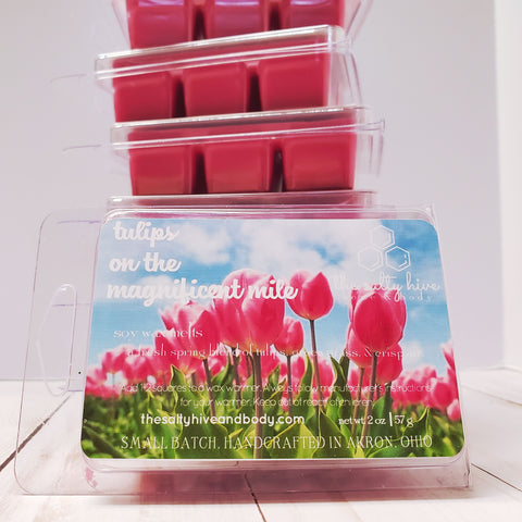 tulips on magnificent mile - spring in chicago inspired wax melts