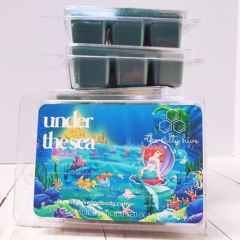 under the sea - disney the little mermaid inspired wax melts