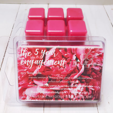 the 5 year engagement inspired wax melts