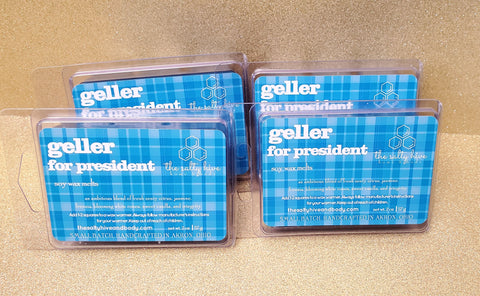 geller for president - gilmore girls inspired wax melts