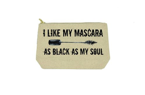 i like my mascara as black as my soul makeup bag - Funky Cat Emporium