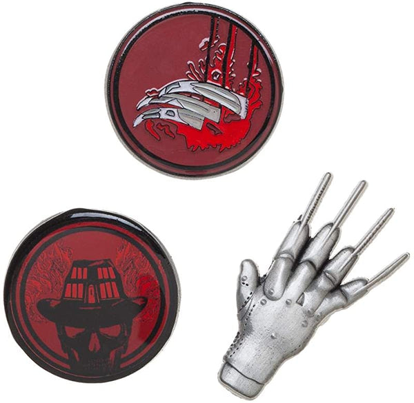 nightmare on elm st lapel pin set