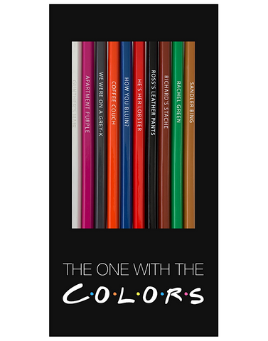 one with colors colored pencils - Funky Cat Emporium