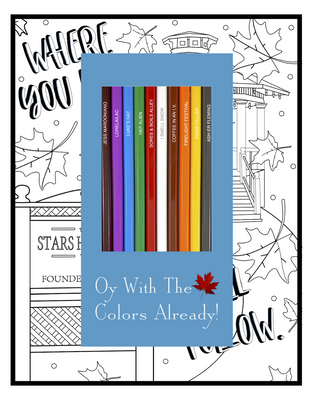 Oy with the Colors Already Colored Pencils & Coloring Pages Gift Set