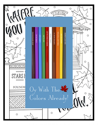 oy with the colors already colored pencils & coloring pages gift set - Funky Cat Emporium
