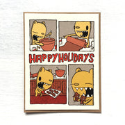 Gingerbread Cookies Christmas Card - Funky Cat Emporium