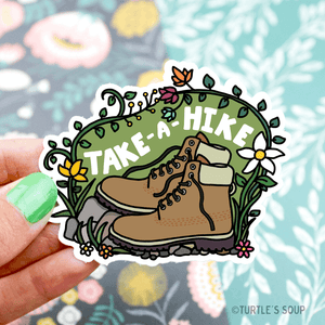 take a hike vinyl sticker - Funky Cat Emporium