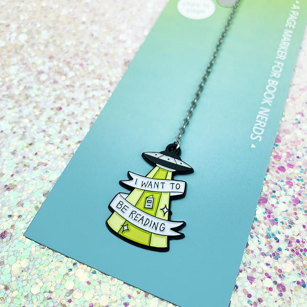 i want to be reading bookmark - Funky Cat Emporium