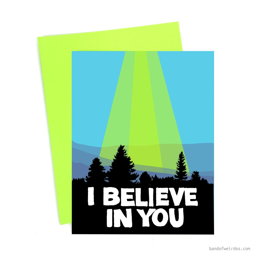 i believe in you card - Funky Cat Emporium