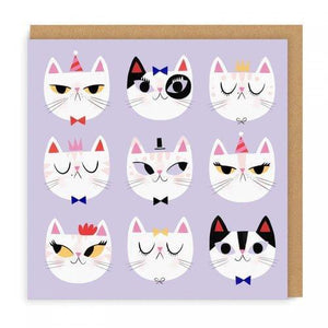 9 Faces of Cats Card