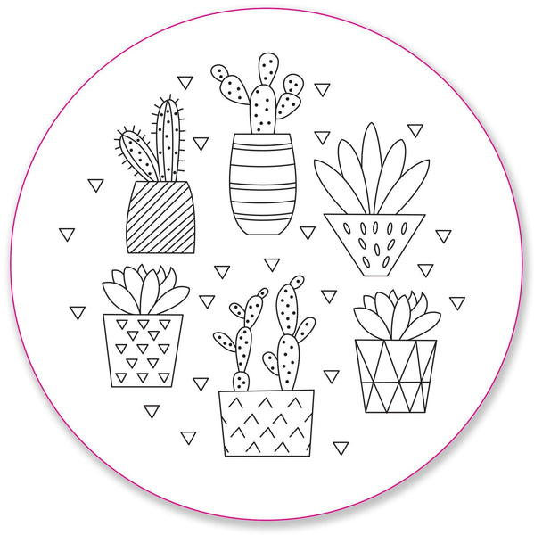 blooms & succulents embroidery pattern set