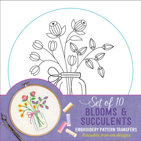 blooms & succulents embroidery patterns