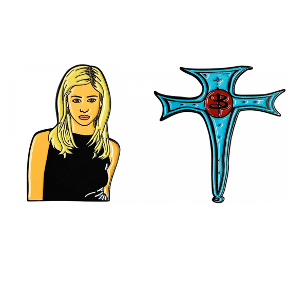 buff the vampire slayer enamel pin set - Funky Cat Emporium