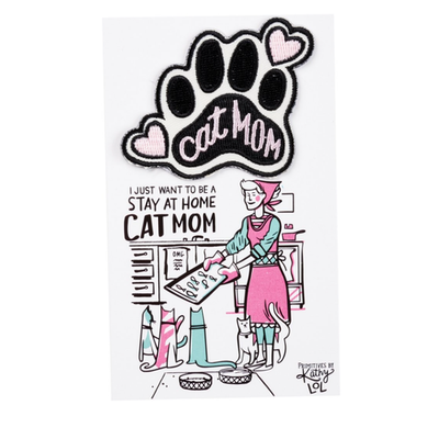Stay at Home Cat Mom Patch - Funky Cat Emporium